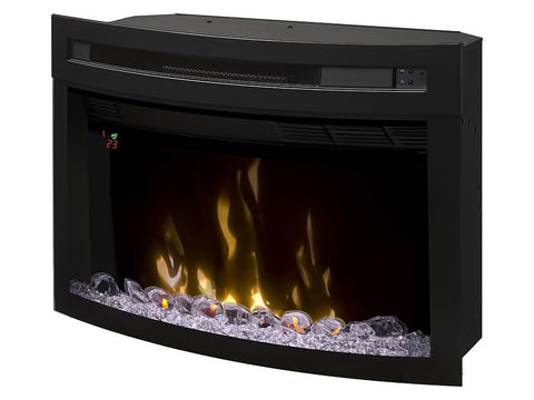 "Image of Dimplex 25"" Multi-Fire XD Firebox Electric Fireplace Insert With Curved Glass - PF2325CG - Electric Fireplace - Dimplex - ElectricFireplacesPlus.com"