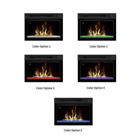 "Dimplex 25"" Multi-Fire XD Firebox Electric Fireplace Insert With Curved Glass - PF2325CG - Electric Fireplace - Dimplex - ElectricFireplacesPlus.com"