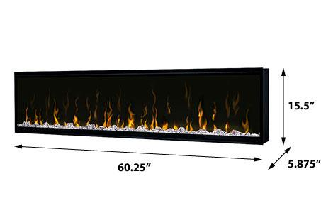 Dimplex Ignite Xl 60 Quot Linear Wall Mount Electric Fireplace