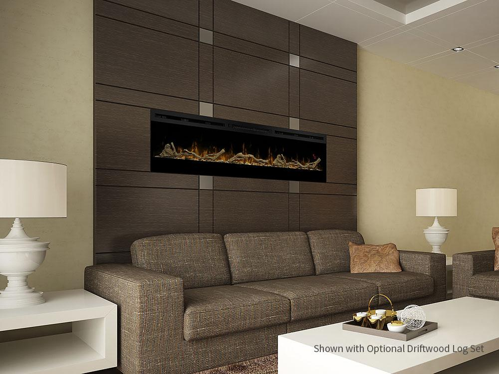 "Dimplex Prism 74"" Wall Mount Electric Fireplace - Electric Fireplace - Dimplex - ElectricFireplacesPlus.com"