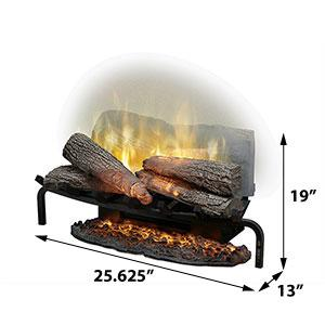 "Dimplex Revillusion® 25"" Electric Fireplace Plug-In Log Set - Electric Fireplace - Dimplex - ElectricFireplacesPlus.com"