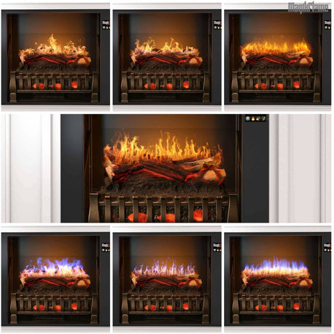"Image of MagikFlame Neo 28"" Electric Fireplace Mantel Package - Electric Fireplace - MagikFlame - ElectricFireplacesPlus.com"