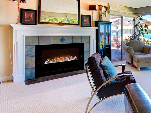"Image of Modern Flames - Home Fire Conventional 60"" Electric Fireplace Built-in - Electric Fireplace - Modern Flames - ElectricFireplacesPlus.com"