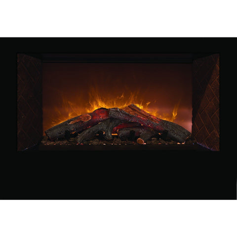 "Modern Flames - Home Fire Conventional 60"" Electric Fireplace Built-in - Electric Fireplace - Modern Flames - ElectricFireplacesPlus.com"