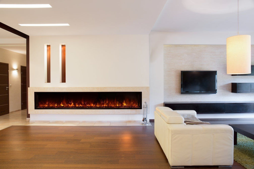 Modern Flames 100 Inch Electric Fireplace Flush Mount