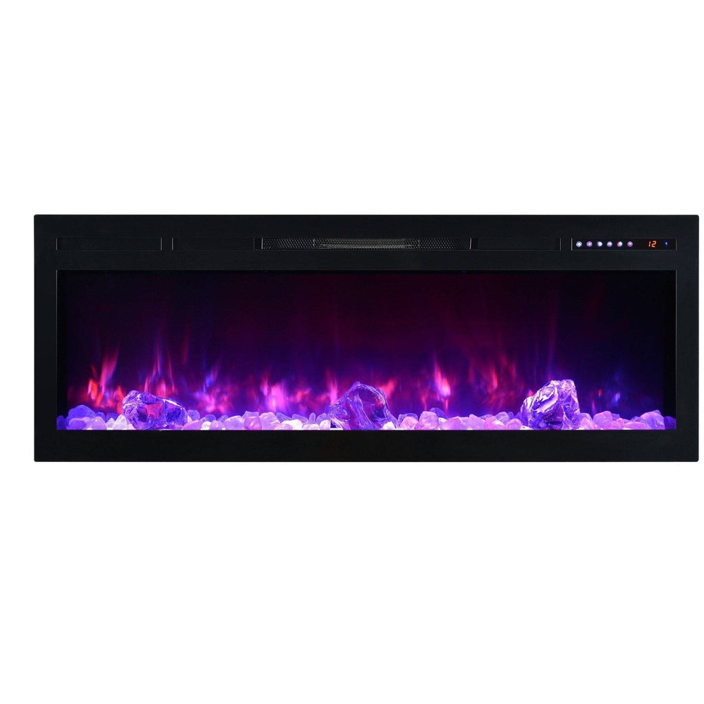 Modern Flames 74 Inch Electric Fireplace Built In Flush