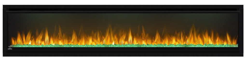 "Napoleon Alluravision 74"" Wall Mount Electric Fireplace - Slim - NEFL74CHS - Electric Fireplace - Napoleon - ElectricFireplacesPlus.com"