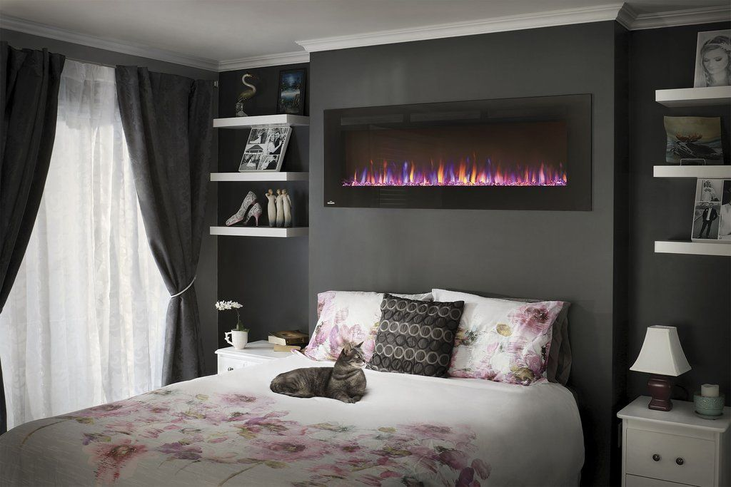 "Napoleon Allure 60"" Linear Wall Mount Electric Fireplace - Electric Fireplace - Napoleon - ElectricFireplacesPlus.com"
