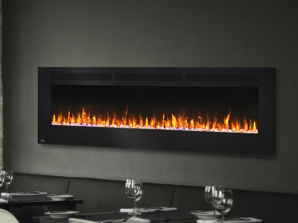 "Napoleon Allure 72"" Linear Wall Mount Electric Fireplace - Electric Fireplace - Napoleon - ElectricFireplacesPlus.com"
