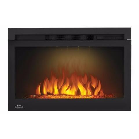 "Napoleon Cinema 27"" Electric Fireplace with Glass - Electric Fireplace - Napoleon - ElectricFireplacesPlus.com"