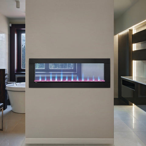 "Napoleon Clearion 50"" See Thru Wall Mount Electric Fireplace - Electric Fireplace - Napoleon - ElectricFireplacesPlus.com"