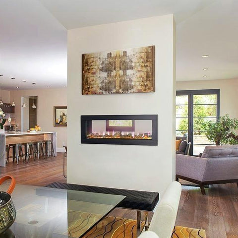 "Image of Napoleon Clearion 50"" See Thru Wall Mount Electric Fireplace - Electric Fireplace - Napoleon - ElectricFireplacesPlus.com"