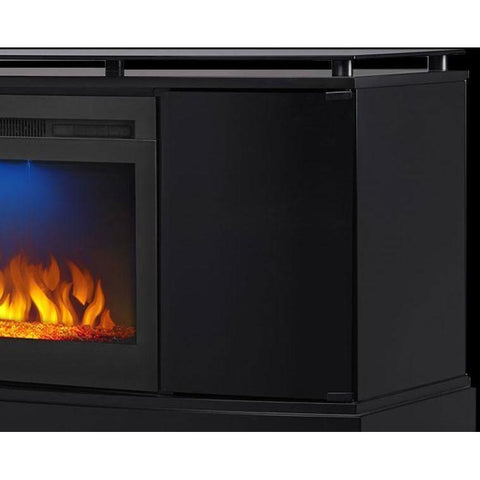 "Image of Napoleon The Anya 27"" Black Media Cabinet Electric Fireplace - Electric Fireplace - Napoleon - ElectricFireplacesPlus.com"