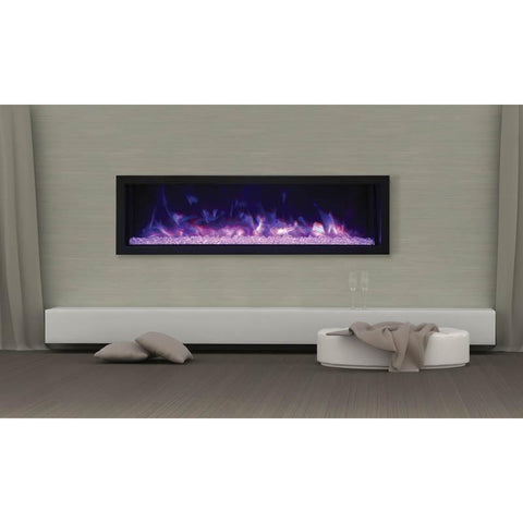 "Remii XS-55 - 55"" Electric Fireplace Indoor/Outdoor - Electric Fireplace - Remii - ElectricFireplacesPlus.com"