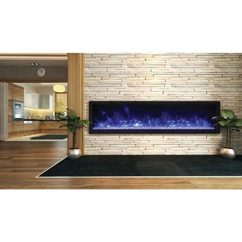 "Remii XS-65- 65"" Electric Fireplace Indoor/Outdoor - Electric Fireplace - Remii - ElectricFireplacesPlus.com"