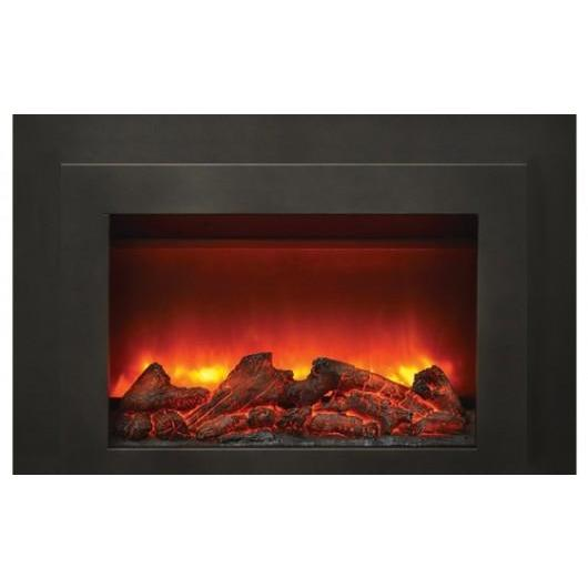 34 Inch Electric Fireplace Insert Flush Mount With Heater Sierra
