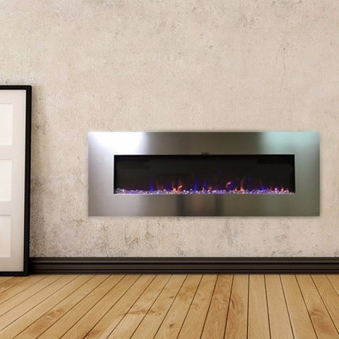 "Touchstone AudioFlare 50"" Stainless Electric Fireplace - Electric Fireplace - Touchstone - ElectricFireplacesPlus.com"