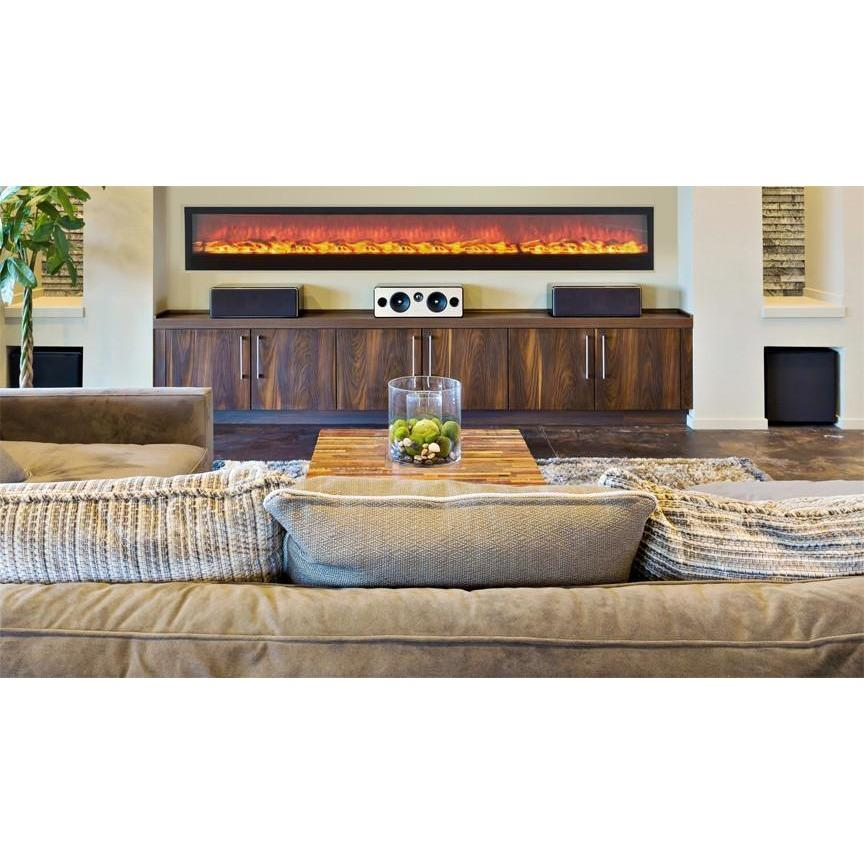 "Touchstone Emblazon 96"" Electric Fireplace - Electric Fireplace - Touchstone - ElectricFireplacesPlus.com"