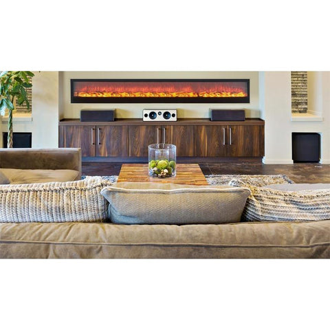 "Image of Touchstone Emblazon 96"" Electric Fireplace - Electric Fireplace - Touchstone - ElectricFireplacesPlus.com"