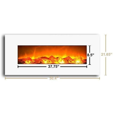 "Image of Touchstone Ivory White 50"" Electric Fireplace - Electric Fireplace - Touchstone - ElectricFireplacesPlus.com"