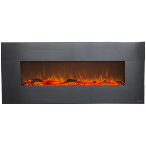 "Image of Touchstone Onyx 50"" Stainless Steel Electric Fireplace - Electric Fireplace - Touchstone - ElectricFireplacesPlus.com"