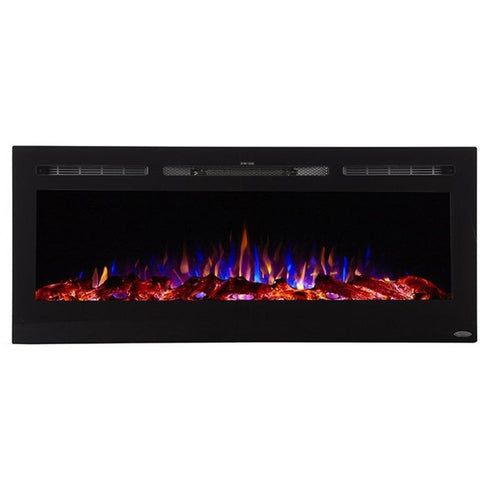 "Touchstone Sideline 50"" Flush Mount Electric Fireplace - Electric Fireplace - Touchstone - ElectricFireplacesPlus.com"