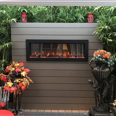 "Touchstone Sideline 50"" Indoor/Outdoor Electric Fireplace - Electric Fireplace - Touchstone - ElectricFireplacesPlus.com"