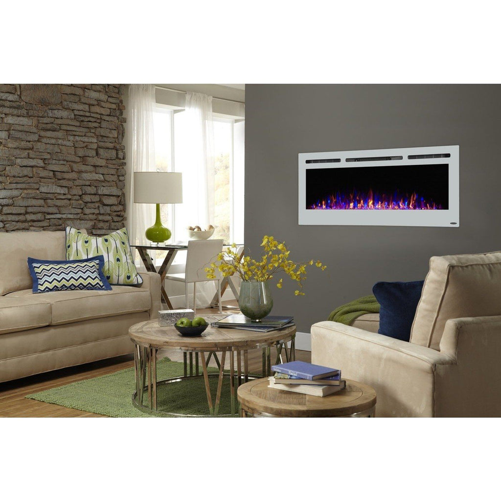 Touchstone Sideline 50 Inch White Electric Fireplace