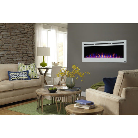 "Image of Touchstone Sideline 50"" White  Electric Fireplace - Electric Fireplace - Touchstone - ElectricFireplacesPlus.com"