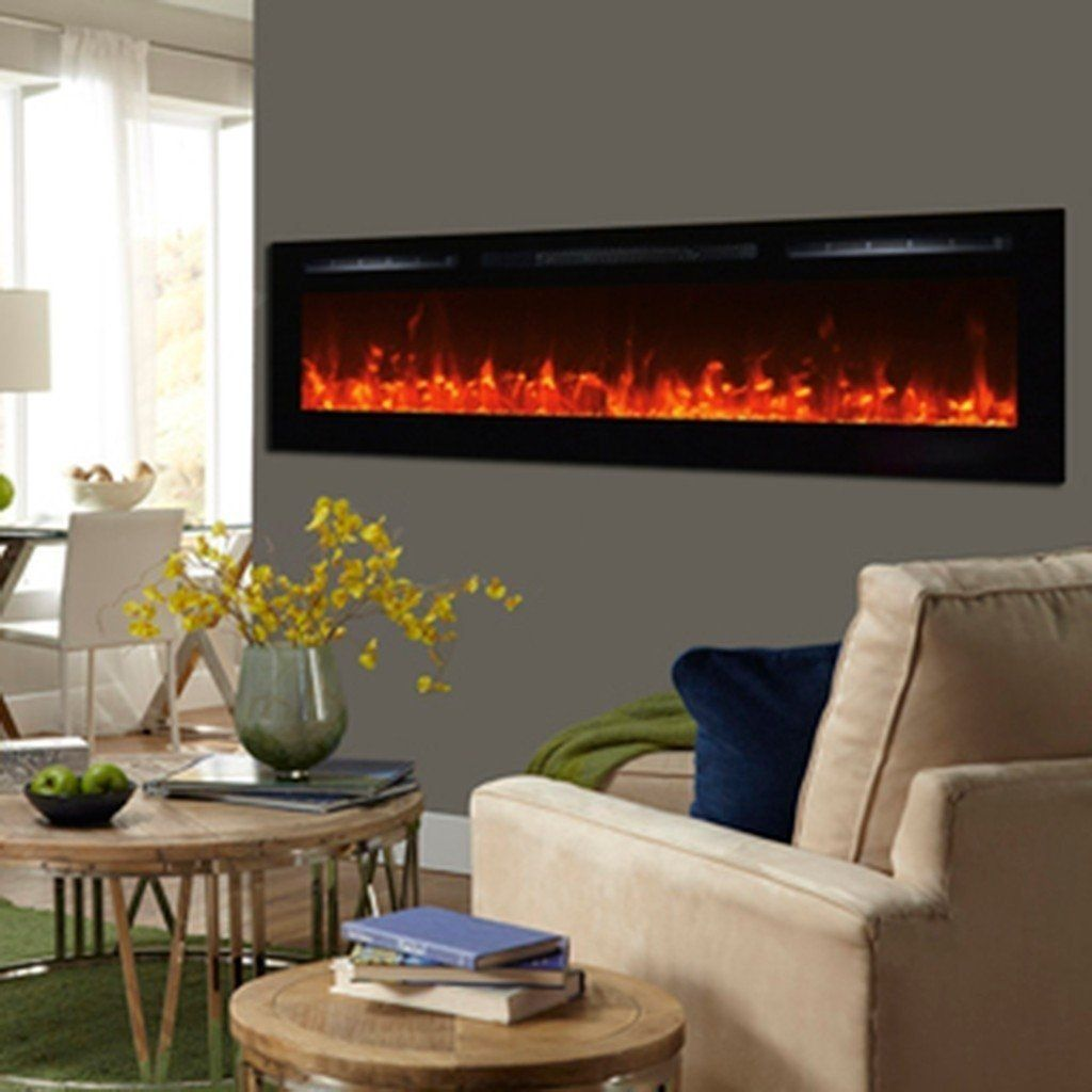 Touchstone Sideline 72 Inch Flush Mount Electric Fireplace