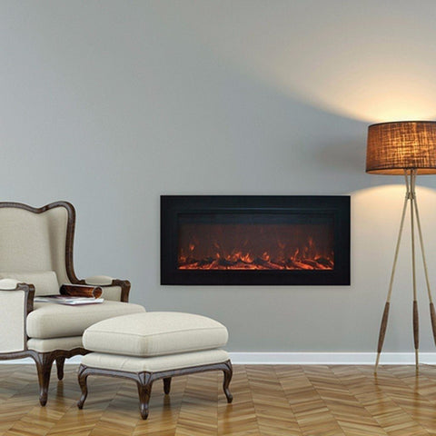 "Touchstone Sideline Steel 50"" Flush Mount Electric Fireplace - Electric Fireplace - Touchstone - ElectricFireplacesPlus.com"