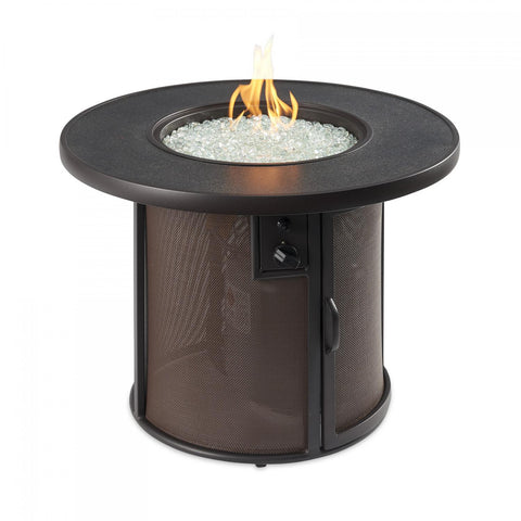 Image of The Outdoor GreatRoom Company Stonefire 31-Inch Round Natural Gas Fire Pit Table - Brown - SF-32-K-NG - Fire Pit Table - The Outdoor GreatRoom Company - ElectricFireplacesPlus.com