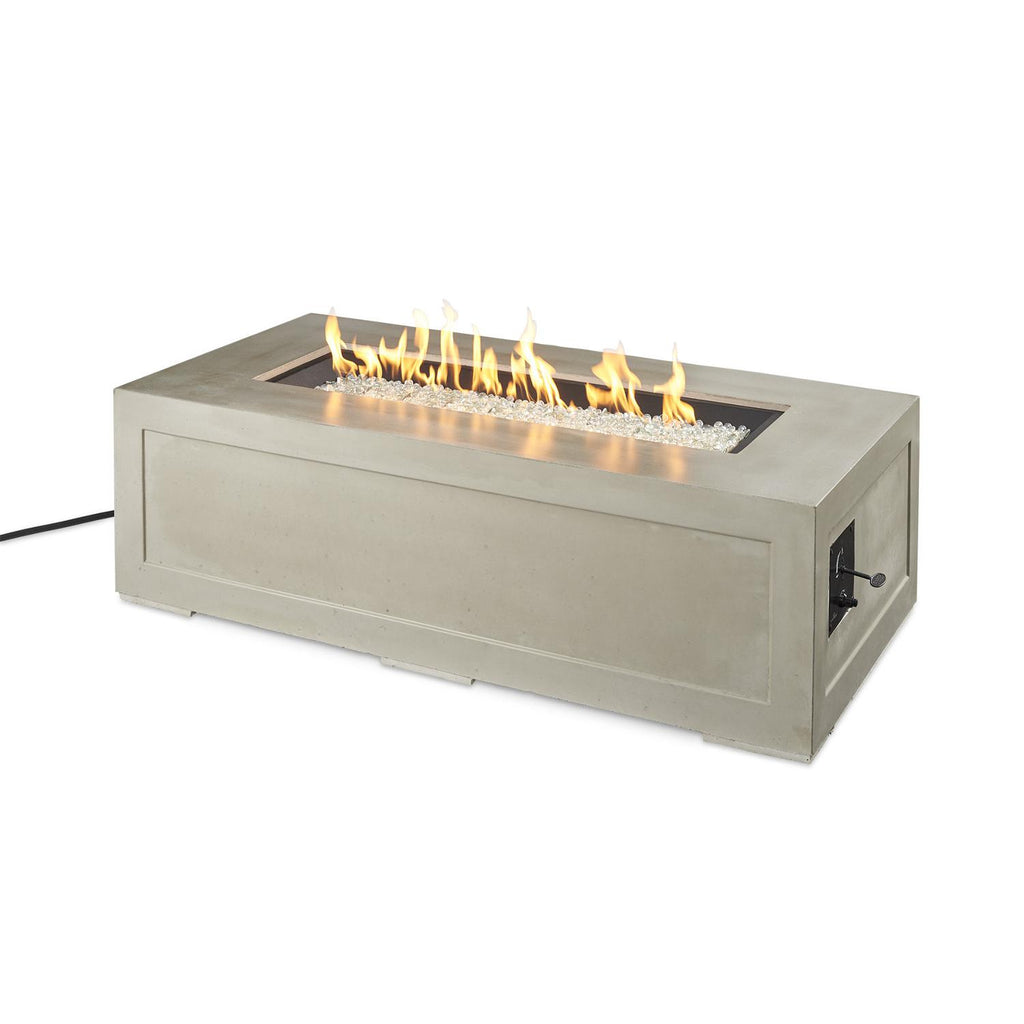 The Outdoor GreatRoom Company Cove 54-Inch Linear Propane Gas Fire Pit Table - Natural Grey - CV-1242 - Fire Pit Table - The Outdoor GreatRoom Company - ElectricFireplacesPlus.com