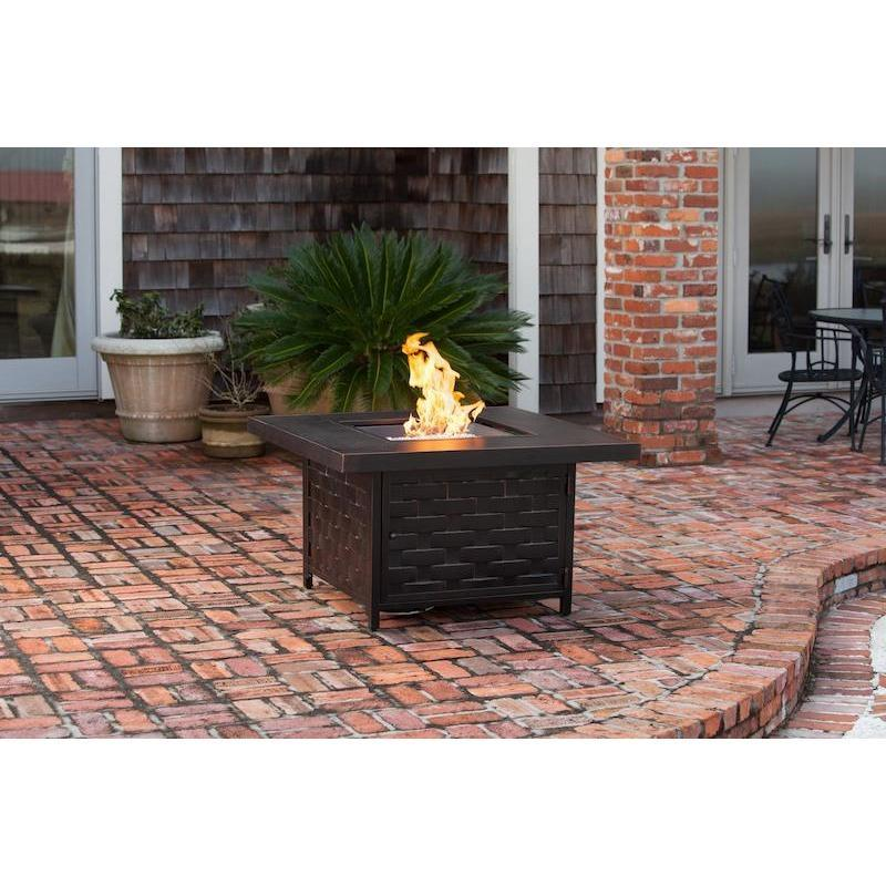 Armstrong Cast Aluminum LPG Fire Pit Table - Fire Pit - Fire Sense - ElectricFireplacesPlus.com