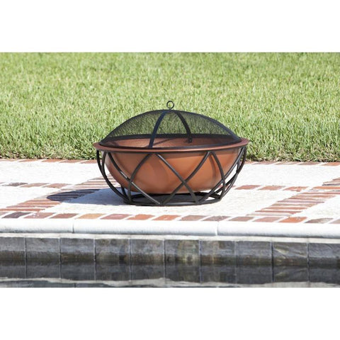 Image of Barzelonia Round Copper Look Fire Pit - Fire Pit - Fire Sense - ElectricFireplacesPlus.com