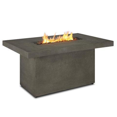 Real Flame Ventura 49-Inch Rectangle Propane Fire Pit Table - Fiber-Cast Concrete - Glacier Gray - w/ Conversion Kit - Fire Table - Real Flame - ElectricFireplacesPlus.com