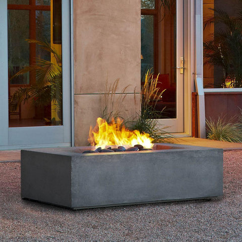Image of Real Flame Baltic 50-Inch Rectangle Propane Fire Pit Table - Kodiak Brown - Fire Table - Real Flame - ElectricFireplacesPlus.com