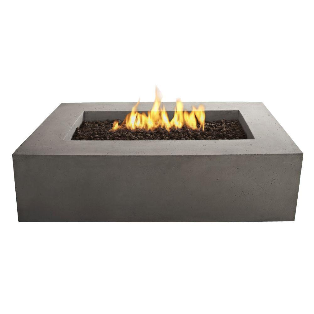 Real Flame Baltic 50-Inch Rectangle Propane Fire Pit Table - Kodiak Brown - Fire Table - Real Flame - ElectricFireplacesPlus.com