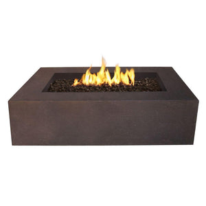 Real Flame Baltic 50-Inch Rectangle Natural Gas Fire Pit Table - Kodiak Brown