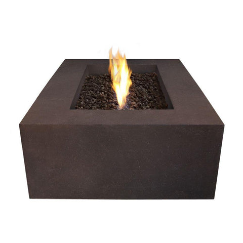 Real Flame Baltic 50-Inch Rectangle Natural Gas Fire Pit Table - Kodiak Brown - Fire Table - Real Flame - ElectricFireplacesPlus.com