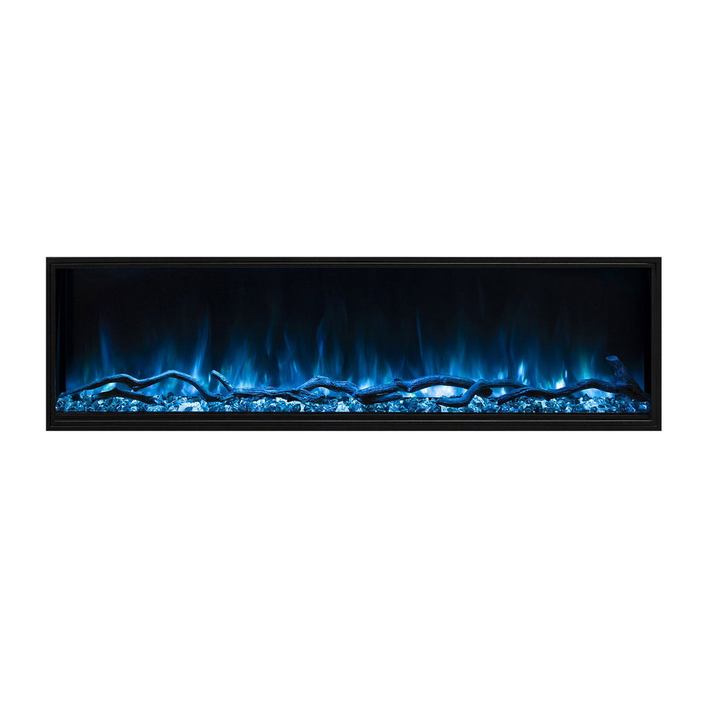 "Modern Flames Landscape Pro Slim 80"" Built In Wall Mount Electric Fireplace - LPS-8014"