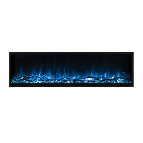 "Image of Modern Flames Landscape Pro Slim 96"" Built In Wall Mount Electric Fireplace - LPS-9614"