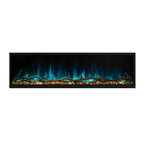 "Image of Modern Flames Landscape Pro Slim 44"" Built In Wall Mount Electric Fireplace - LPS-4414"