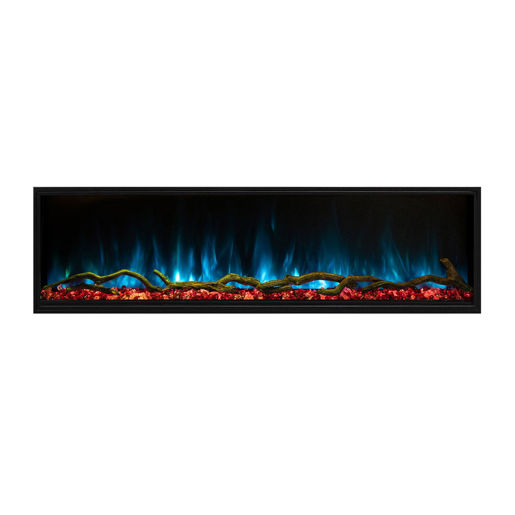 "Modern Flames Landscape Pro Slim 44"" Built In Wall Mount Electric Fireplace - LPS-4414"