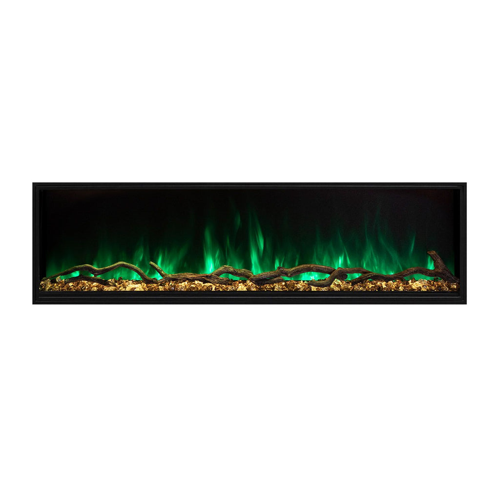 "Modern Flames Landscape Pro Slim 96"" Built In Wall Mount Electric Fireplace - LPS-9614"