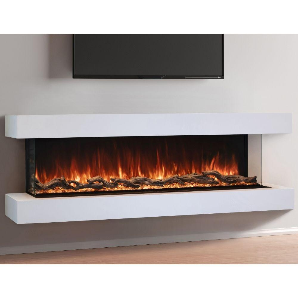 "Modern Flames Landscape Pro Multi Sided Built-In 96"" Electric Fireplace - LPM-9616"