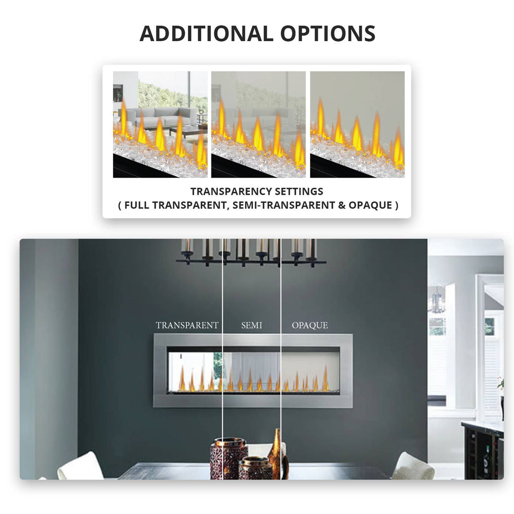 "Napoleon Clearion Elite 60"" See Thru Wall Mount Electric Fireplace - NEFBD60HE"