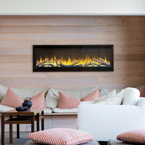 "Napoleon Alluravision 60"" Wall Mount Electric Fireplace - Deep - Electric Fireplace - Napoleon - ElectricFireplacesPlus.com"