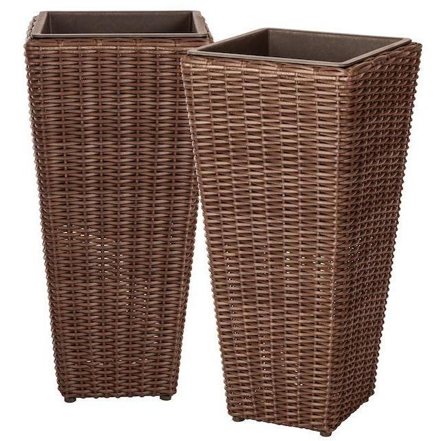 Alto 2-Piece Wicker Planter Set - Patio Furniture - Patio Sense - ElectricFireplacesPlus.com