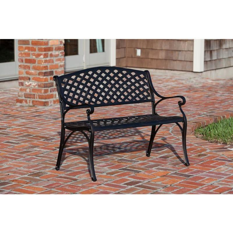 Miraculous Antique Bronze Cast Aluminum Patio Bench Pabps2019 Chair Design Images Pabps2019Com